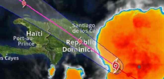 """Se espera que """"Isaías"""" toque tierra este jueves en República Dominicana"""