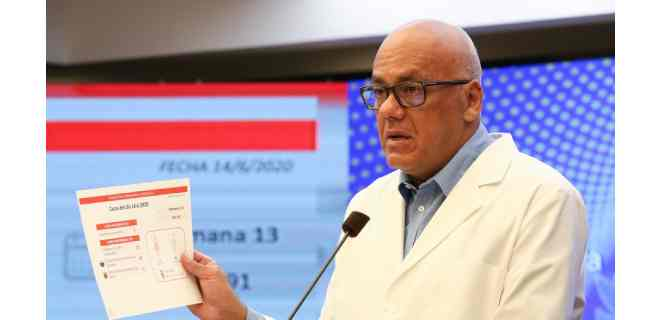 Jorge Rodríguez anunció 525 nuevos casos y cuatro fallecidos por Covid-19
