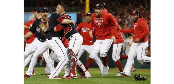 Nacionales toman revancha ante los Yankees en las Grandes Ligas de beisbol