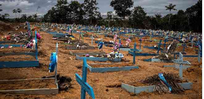 Brasil supera las 97 mil muertes por covid-19