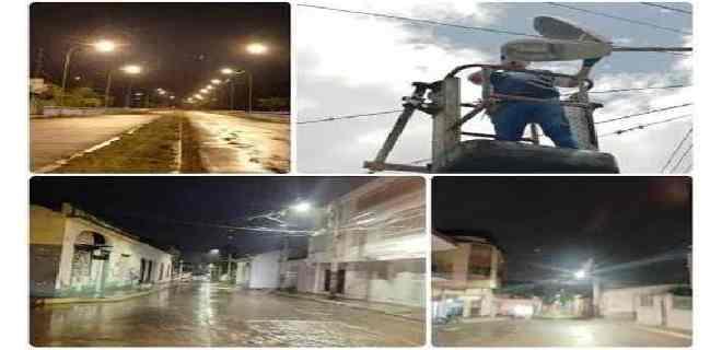 Se sustituyeron más de medio millar de luminarias en el centro de Mérida