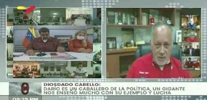 Diosdado Cabello reapareció en una videoconferencia con Maduro