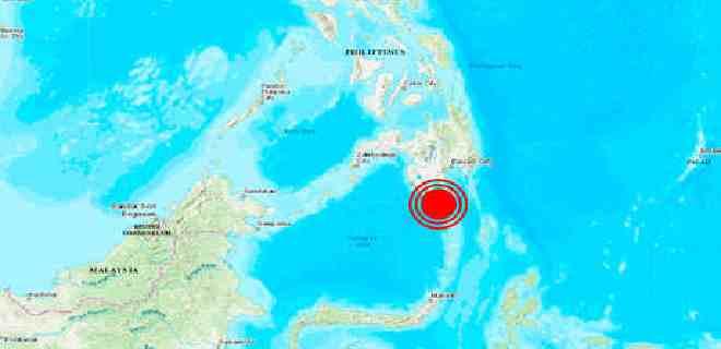 Un terremoto de magnitud de 6,7 se registró en Filipinas