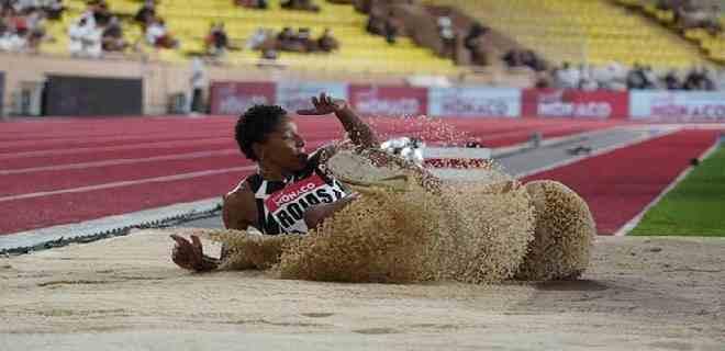 Yulimar Rojas logra el primer lugar de triple salto en Mónaco