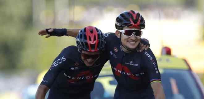 Etapa 18: Kwiatkowski y Carapaz llegan juntos a la meta en el Tour