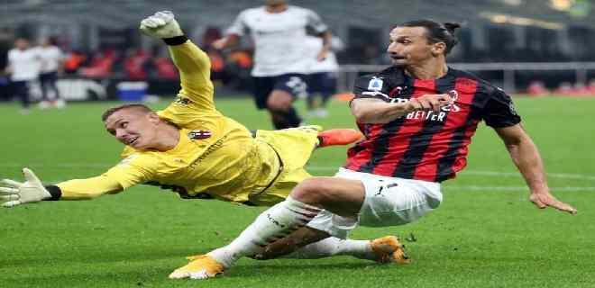 Doblete de Ibrahimovic da el primer triunfo al Milan