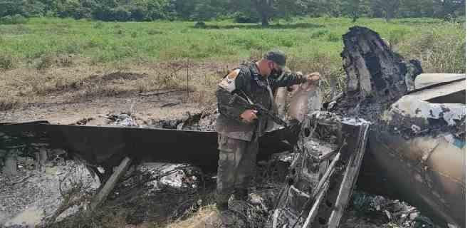 Derriban avión con supuesta bandera de EEUU en Zulia