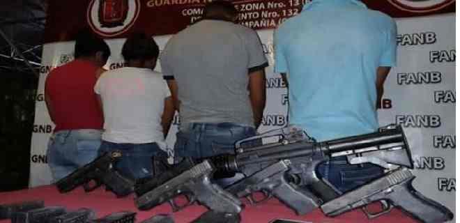Detenidas 4 personas con armamento de guerra en alcabala de Morón-Coro