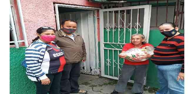 Ediles de la Patria en Mérida continúan apoyando entrega alimentos  en comunidades