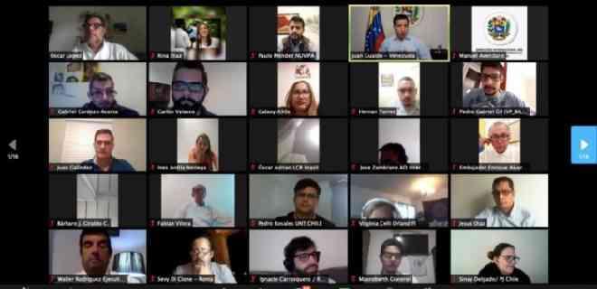 Guaidó se reúne con partidos políticos de la diáspora para la consulta