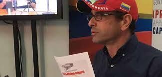 Capriles considera que la Unión Europea podría ser garante de condiciones electorales de mayor confianza