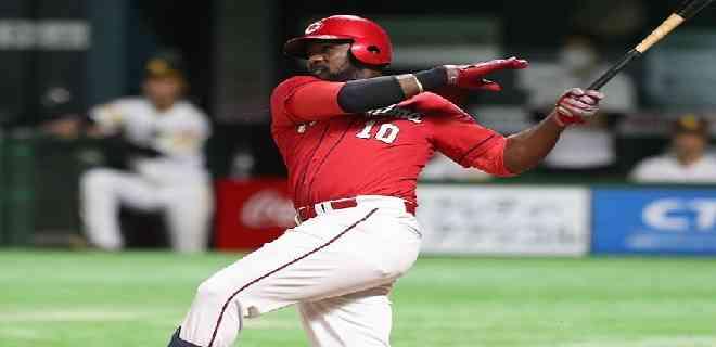 José Pirela llegó a nueve jonrones y 27 remolcadas en el beisbol japonés