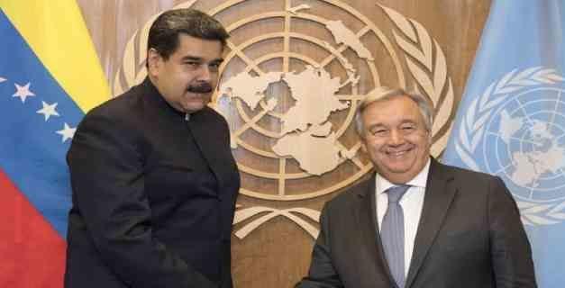 Maduro conversó con António Guterres sobre los DD HH en Venezuela