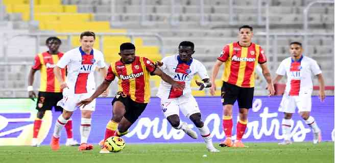 El Paris Saint-Germain sucumbió ante el Lens