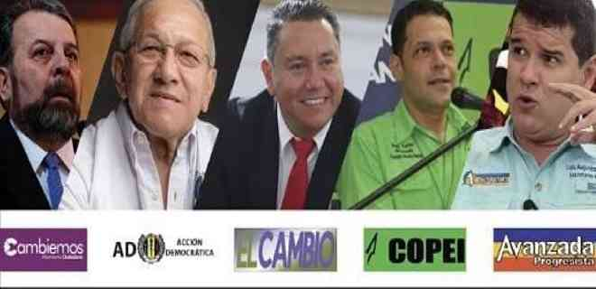 """Cinco partidos de oposición presentan su """"Alianza Democrática"""" de cara a las parlamentarias del 6-D"""