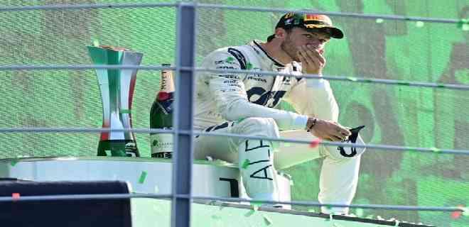 El francés Pierre Gasly ganó el Gran Premio de Italia de F1