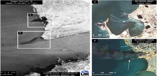 Denuncia que sigue derrame de petróleo en las refinerías de Amuay y Cardón