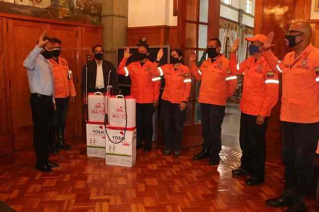 Gobernador juramentó coordinadores de los ejes de Protección Civil