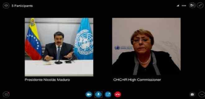Maduro conversó con Bachelet luego del informe sobre violaciones de DD HH
