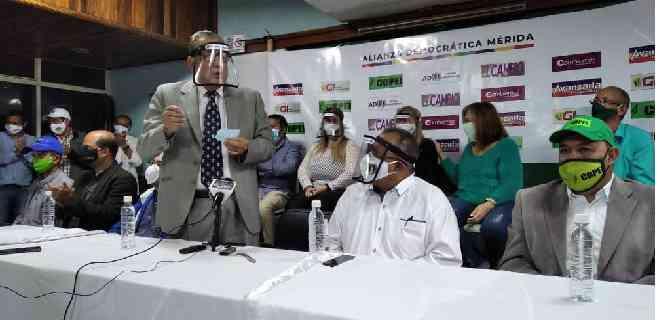 Presentados los candidatos a la AN por la Alianza Democrática en Mérida