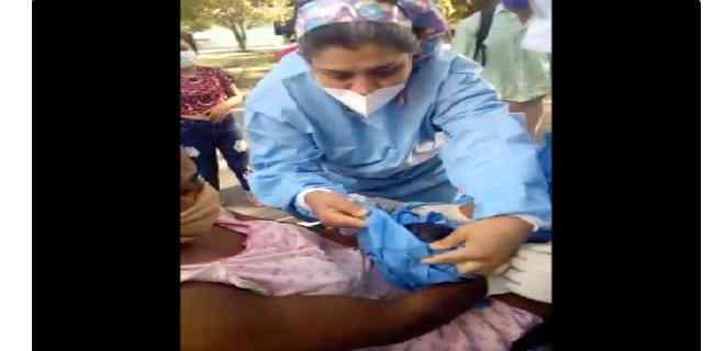 Dio a luz en la calle mientras esperaba ser atendida en un hospital de Barquisimeto
