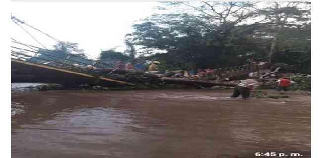 Puente colapsó en Cumanacoa tras las lluvias de este #19Oct