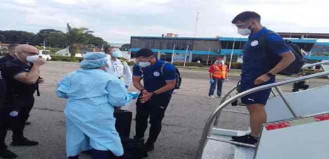Paraguay llegó a suelo venezolano para enfrentar a la Vinotinto