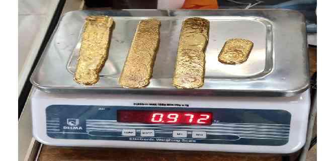 Arrestan a pasajero con casi 1 Kg de oro en el recto