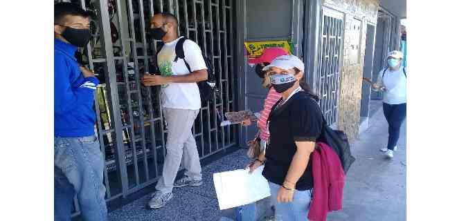 Sergidesol visitó a los comerciantes de la Av. 16 de septiembre