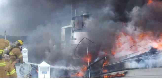 Al menos 13 heridos en incendio de un yate en Florida